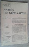Annales De Géographie N°372 (mars-avril 1960) - Viaggi