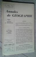 Annales De Géographie N°362 (juillet-août 1958) - Voyages