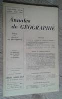 Annales De Géographie N°368 (juillet-août 1959) - Viaggi
