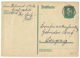 DR EKS GROSSRAKITT (Groß Rakitt) Auf Ganzsache 1929 Nach Leipzig R! - Storia Postale