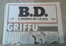 B.D., L'hebdo De La BD, N°9 (5 Décembre 1977) - Livres, BD, Revues