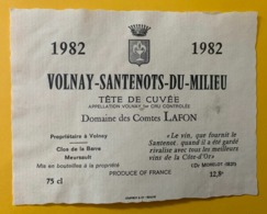 15645 -  Volnay-Santenots-du-Milieu 1982 Tête De Cuvée Domain Des Comtes Lafon - Bourgogne