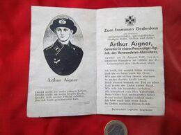 Faire Part De Décés Allemand - 1939-45