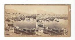 Genova  Gênes (  Le Port )  Panorama  Genova Stereo Vers 1860    Celestino  Degoix  Cachet à Sec - Stereoscopio