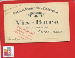 Avize Près Epernay VIX BARA Carte De Représentant Champagne Deuxième Zone Vin Mousseux - France
