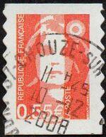 France Oblitération Cachet à Date N° 4295 Ou 233 Autoadhésif - Visage De La 5ème République. Marianne De Briat - Usados