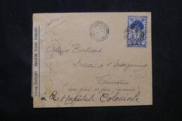 MADAGASCAR - Enveloppe De Belo Sur Tsiribihina Pour Tananarive En 1944 Par Avion Avec Contrôle Postal - L 69065 - Covers & Documents