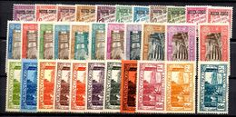 Congo Maury Timbres Taxe N° 1/33 Complet Neufs *. B/TB. A Saisir! - Congo Français (1891-1960)