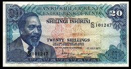 # # # Banknote Kenia (Kenya) 20 Shillings 1977 # # # - Kenia
