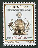 103 COLOMBIE 2020 - 100 Ans Serenisima (Ruche) Masonic Franc Maconnerie Freemasonery Loge - Neuf ** (MNH) Sans Charniere - Francmasonería