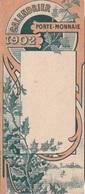 Calendrier Porte Monnaie De Poche 1902 - Il Y A Que Janvier - Février - Mars - Avril - 3 Fois !!! - Calendars