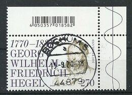ALEMANIA 2020 - Georg Wilhem Friedrich Hegel - Usados
