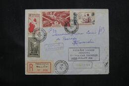 MADAGASCAR - Enveloppe En Recommandé Par 1er Vol Madagascar/ Tromalin ( T A.A.F. ) En 1954 - L 69067 - Covers & Documents