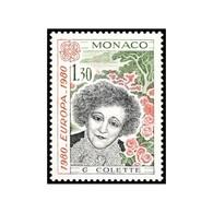 Timbre N° 1224 Neuf ** - Europa. Personnages Célèbres. Sidonie-Gabrielle Colette (1873-1954). - Mónaco