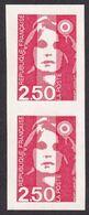 Briat Variété 2615, 2,50 De Carnet, Paire, Sans Prédécoupe Au Milieu, Neuf - 1989-96 Marianne (Zweihunderjahrfeier)