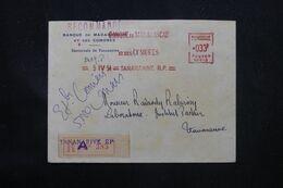 MADAGASCAR - Enveloppe Commerciale En Recommandé De Tananarive En Local En 1954, Affranchissement Mécanique - L 69075 - Covers & Documents