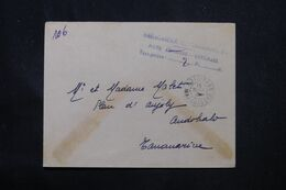 MADAGASCAR - Griffe De La Taxe De La Poste Aérienne De Antsirabe En 1945 Pour Tananarive - L 69077 - Covers & Documents