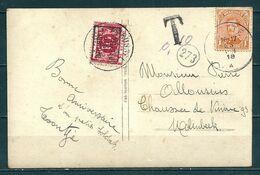 TX 13A Voorafstempeling Op Postkaart - BRUSSEL 1919 BRUXELLES -  Positie C + Nr 135 Gestempeld JETTE - Precancels