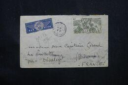 MADAGASCAR - Enveloppe De Majunga Pour La France En 1947, Affranchissement Tchad Au Rhin - L 69081 - Covers & Documents