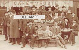 """COLOMBOPHIE - CAFE DE LA POSTE - """"L'ESPERANCE"""" Société Colombophile - Belle Animation,colombes,pigeons.Carte Photo - Saint-Georges-sur-Meuse"""