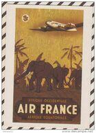 4AG1191 AIR FRANCE AFRIQUE OCCIDENTALE AFRIQUE EQUATORIALE VINCENT GUERRA  2  SCANS - Unclassified