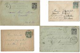 Lot De 24 Entiers Postaux Oblitèrrés à Parit De 1876 (voir Les 6 Scans) - Biglietto Postale