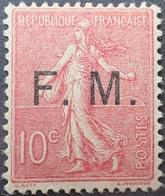 R1306/96 - 1906/1907 - TYPE SEMEUSE FOND LIGNE - F.M. (FRANCHISE MILITAIRE) - N°4 NEUF** - Cote (2020) : 130,00 € - Franchigia Militare (francobolli)