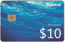 Australia - Telstra (Chip) - Water, Chip Siemens S35, 31.01.2012, 10$, Used - Australië