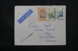 """MADAGASCAR - Enveloppe De Vohemar Pour La France Par Avion En 1951 , Griffe """" Après Le Départ """"  - L 69085 - Covers & Documents"""