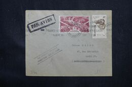 """MADAGASCAR - Enveloppe De Tananarive Pour La France En 1947 , Griffe """" Itinéraire Détourné Khartoum -Tripoli """" - L 69086 - Covers & Documents"""