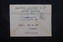 MADAGASCAR - Griffe De La Taxe Aérienne De Tamatave En 1945 Sur Enveloppe Commerciale Pour Antsirabe - L 69095 - Covers & Documents
