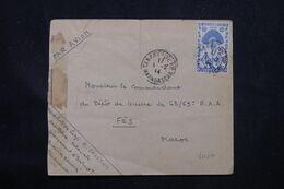 MADAGASCAR - Enveloppe D'un Soldat De Tananarive Pour Le Maroc Par Avion En 1944 Avec Contrôle Postal - L 69096 - Covers & Documents