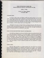 MAIL EXCHANGED UNDER THE FRANCO BELGIAN POSTAL CONVENTION OF 1866 JEFFREY C BOHN 25 Pages - Handbooks
