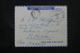 MADAGASCAR - Enveloppe De Tananarive En FM ( Hôpital Colonial ) Par Avion En 1946 Pour La France - L 69097 - Covers & Documents
