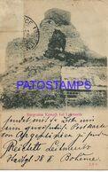 141052 CZECH REPUBLIC LEITMERITZBURGRUINE KAMAIK SPOTTED MATASELLO SAN NICOLAS CIRCULATED TO ARGENTINA  POSTAL POSTCARD - República Checa