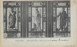 Chartres 28 - Carte Emaux  Eglilse Saint-Pierre Par Léonard De Vinci - Bon état - Chartres