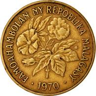 Monnaie, Madagascar, 20 Francs, 4 Ariary, 1970, Paris, TTB, Aluminum-Bronze - Madagascar
