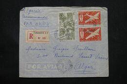 MADAGASCAR - Enveloppe En Recommandé De Tananarive Pour Alger Par Avion  - L 69104 - Covers & Documents