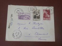 France Lettre Recommandée Du 23 07 1948  De Chalons Sur Marne  Pour Amiens - Brieven En Documenten