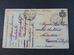 """431 ITALIA Regno -1916- Storia Postale """"Franchigia"""" P.M. 47^ Divisione USº (descrizione) - Franchise"""