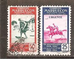 Marruecos Español - Edifil 385, 393 - Yvert 448, 456 (usado) (o) - Marruecos Español