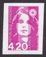 Briat Variété 2770, 4,20 Non Dentelé Accidentel, Signé Calves, Neuf - 1989-96 Marianne (Zweihunderjahrfeier)
