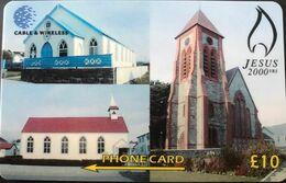 FALKLAND  -  Badminton  -  Cable & Wireless  -  Jesus 2000  -  £ 10 - Islas Malvinas
