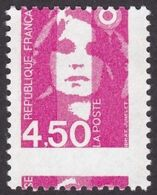Briat Variété 3007, 4,50, Piquage A Cheval, Encre Neutre Aux UV, Neuf - 1989-96 Marianna Del Bicentenario