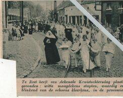 REET..1936.. DEKENALE KRUISTOCHTERSDAG DE MAAGDEKENS STAPPEN MEE IN DE PROCESSIE - Zonder Classificatie