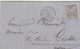 LAC 15c Sage O.T18 Pierremont En Laonnois Aisne 1878 - 1877-1920: Semi Modern Period