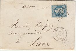ESC N°22 GC + T15 Maule Seine Et Oise + Boîte Rurale B 1867 - 1877-1920: Semi-moderne Periode