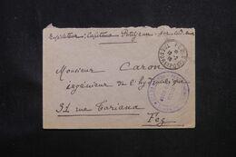 MAROC - Enveloppe En Fm De Dar Caid Omar  Pour Fez En 1918, Cachet Militaire De Renseignements  - L 69123 - Lettres & Documents