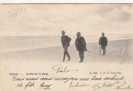 OOSTENDE / KONING LEOPOLD II OP HET STRAND  1904 - Oostende