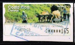 Costa Rica 2008,Michel# ATM 8 O Farmer With Oxen - Costa Rica